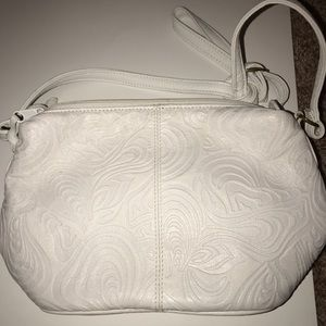 Bags - White textured dressy purse